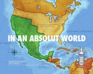 Absolut redraws America\'s Boundry Lines